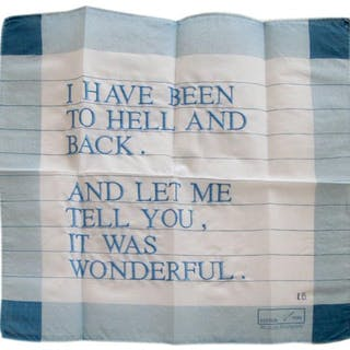 I Have Been to Hell and Back Handkerchief, 1996 - Louise Bourgeois