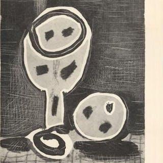 Nature Morte au Verre et a la Pomme, 1944 - Pablo Picasso