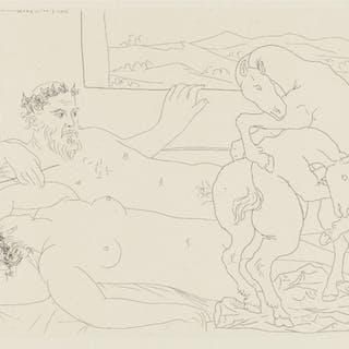Le Repos du Sculpteur lll from Suite Vollard, 1937 - Pablo Picasso