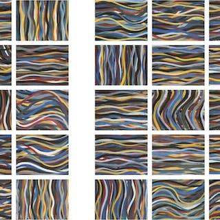 Brushstrokes: Horizontal and Vertical, 1996 - Sol LeWitt