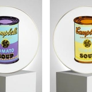 Set of 4 plates (Campbell's Soup) - Andy Warhol