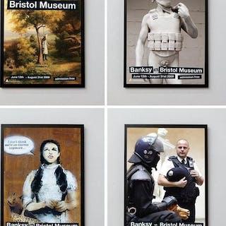 Set of 4 Banksy vs. Bristol Museum Lithographs, 2009 - Banksy