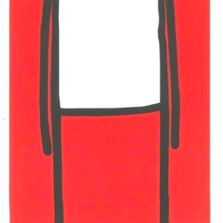 Standing Figure (Red), 2013 - Stik