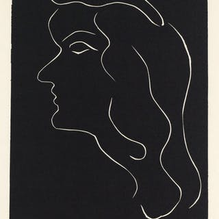 Untitled (Original linocut for Pierre a feu), 1947 - Henri Matisse
