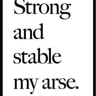Strong and Stable My arse, 2017 - Jeremy Deller
