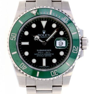 Rolex Submariner Hulk Wristwatch Current Sales Barnebys Com
