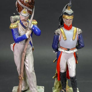 A 'Naples' porcelain Napoleonic figure of an officer, second half