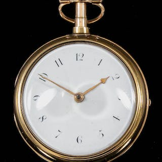 A George III 18ct gold pair cased pocket watch by Thomas Moss