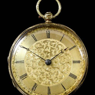 A Victorian lady's 18ct gold cased pocket watch (anonymous)