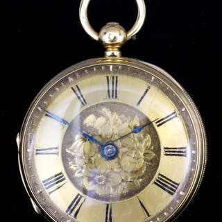 A Victorian lady's 18ct gold cased pocket watch by Hux & Sons