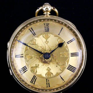 A George V lady's 18ct gold cased pocket watch by J