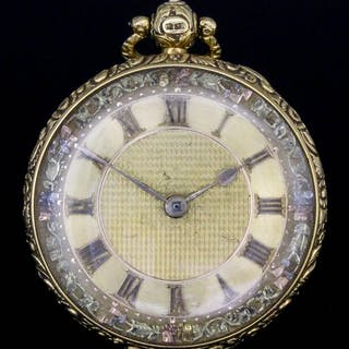 A George IV 18ct gold consular cased pocket watch by John Skinner of Exeter