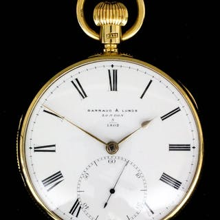 A Victorian 18ct gold consular cased pocket watch with...