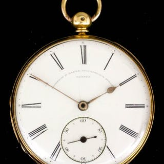 A late Victorian 18ct gold consular cased lever pocket watch by Frodsham & Baker