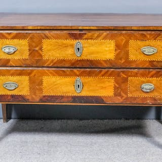 An 18th Century South German walnut commode