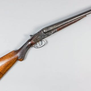 A deactivated 12 bore side by side shotgun by Birchall