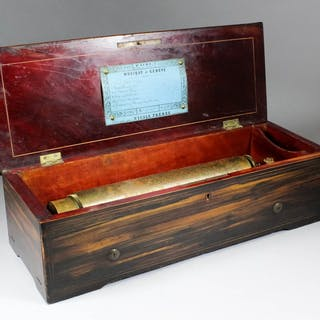 A mid 19th Century six air musical box by Nicole Freres of Geneva