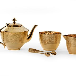 Gilt tea set by Frederick Elkington