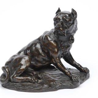 19th Century Bronze Mastiff