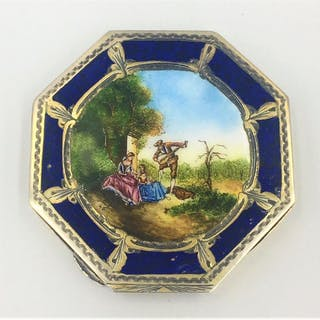 French Enamel Compact