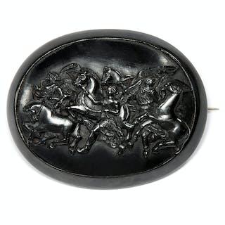 Angemessen Sehr Große Geschwungene Designer Stab Brosche Aus 925 Sterling Silber Broschen & Nadeln Uhren & Schmuck