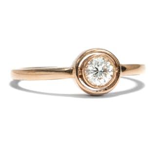 Aus unserer Werkstatt: Ring mit erstklassigem 0,27 ct Diamanten in Roségold