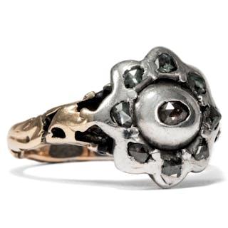 Antiker Diamant-Ring des Rokoko in Silber & Gold, Westeuropa um 1760