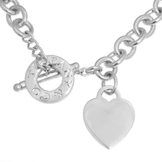 98200cd3a2d989 Tiffany & Co. Sterling Silver Heart Toggle Necklace – Current sales –  Barnebys.co.uk