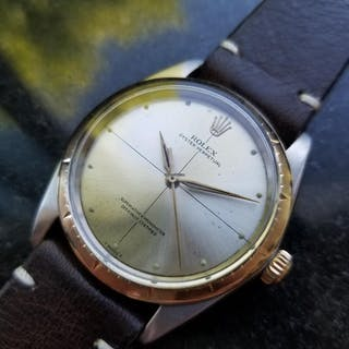Rolex Men's 18K and SS Oyster Perpetual 1008 Zephyr Automatic c.1967