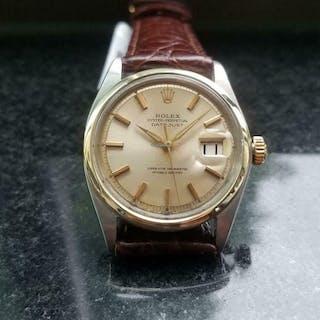 Rolex 18k Gold & ss Men's Datejust 5500 Automatic, c.1954 Swiss Vintage MA151