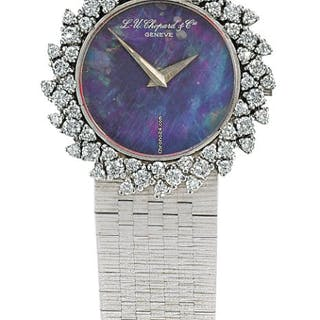 Chopard , Luc | Lady's White Gold Diamond-set Bracelet Watch With