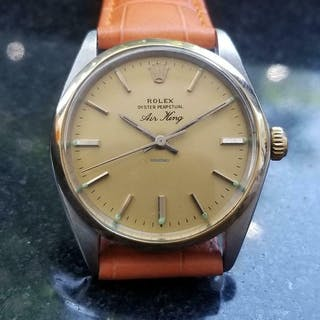 Rolex 14k & ss Vintage Oyster Perpetual Air-King 5500 Automatic, c.1978 LV568OR