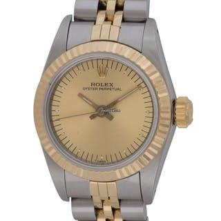 Rolex : Ladies Oyster Perpetual : 67193 : 18k Gold & Stainless Steel
