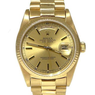 Rolex Mens Rolex 750 18k Yellow Gold Oyster Perpetual Day Date President