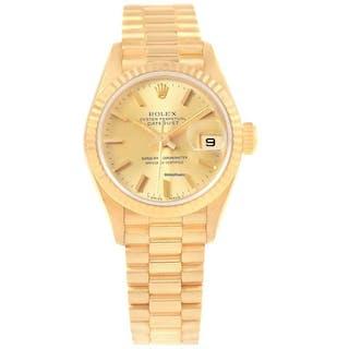 Rolex President Datejust 26mm 18k Yellow Gold Ladies Watch 79178