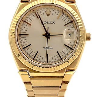 Rolex Oyster Quartz Date - Texano 18kt Yellow Gold - Ref. 5100
