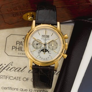 Patek Philippe   Reference 3970jyellow Gold Perpetual Calendar Chronograph