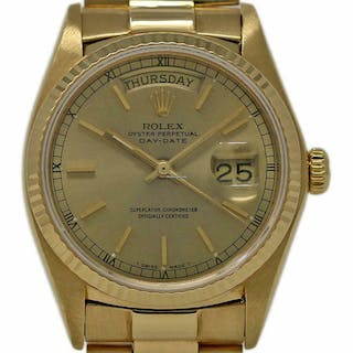 Rolex Day-Date President 18038 36mm 18K Yellow Gold Champagne 1980