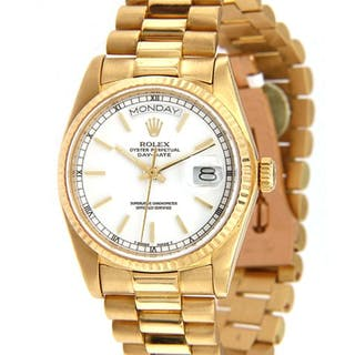 Rolex 1985 Rolex Day-Date President 18038, 18K Gold, w/ Box and Papers