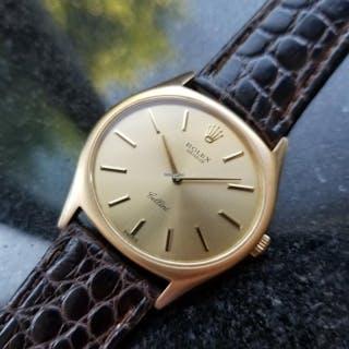 Rolex Men's 18K Solid Gold Cellini 3806 Hand-Wind Dress Watch c.1970