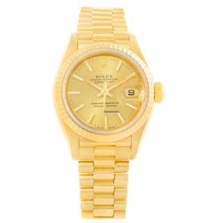 Rolex President Datejust 26mm 18k Yellow Gold Ladies Watch 69178