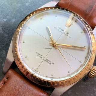 Rolex Men's 18k & ss Oyster Perpetual 1038 Automatic, c.1969 Vintage MA117brn