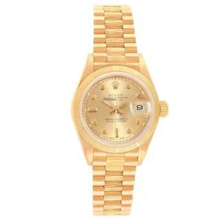 Rolex President Datejust 26mm 18k Yellow Gold Ladies Watch 69278