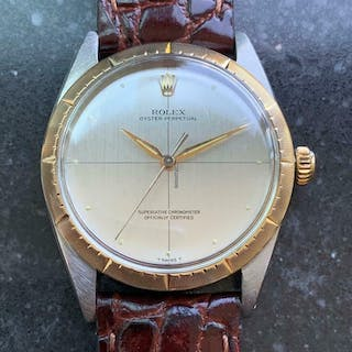 Rolex 14K Gold & ss Oyster Perpetual 1008 Zephyr Automatic, c.1966 Swiss LV772
