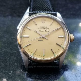 Rolex 14k & ss Oyster Perpetual Air-King 5500 Automatic, c.1978 Swiss LV568BLK