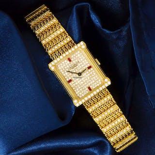 Patek Philippe RARE LES GRESCUES REF 4633 18Kt FACTORY DIAMOND RUBY WATCH