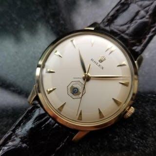 Rolex Mens 14K Yellow Gold Optimist International c.1960 Vintage Swiss