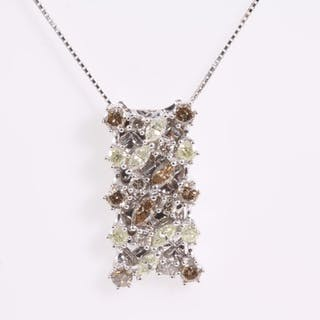 2.00ct Multi coloured Diamond Pendant Lot # 188 Melbourne