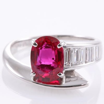 2.05ct Ruby and Diamond Ring Lot # 72 Perth