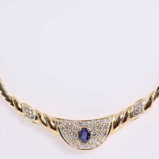 Sapphire and Diamond Necklace Lot # 115 Adelaide